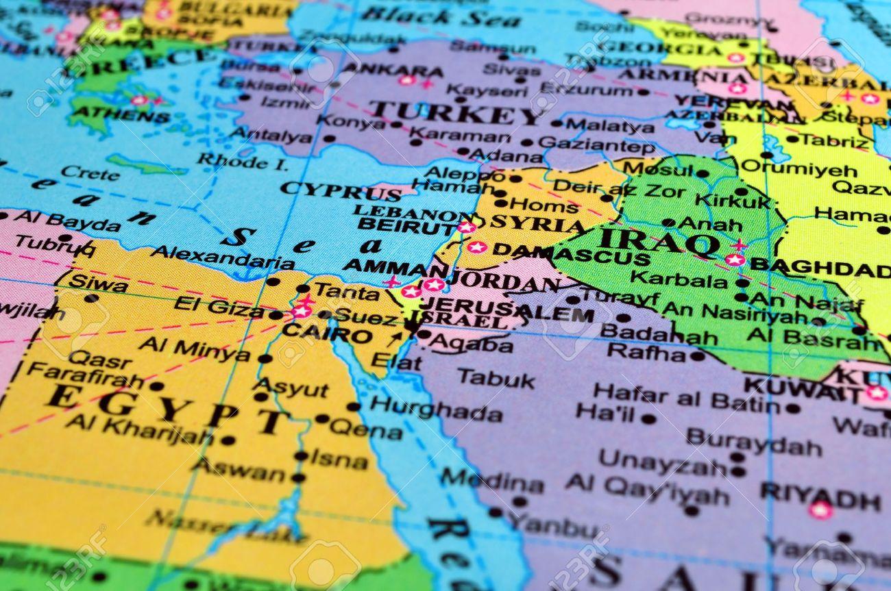 stredný východ_politická mapa_travelhacker
