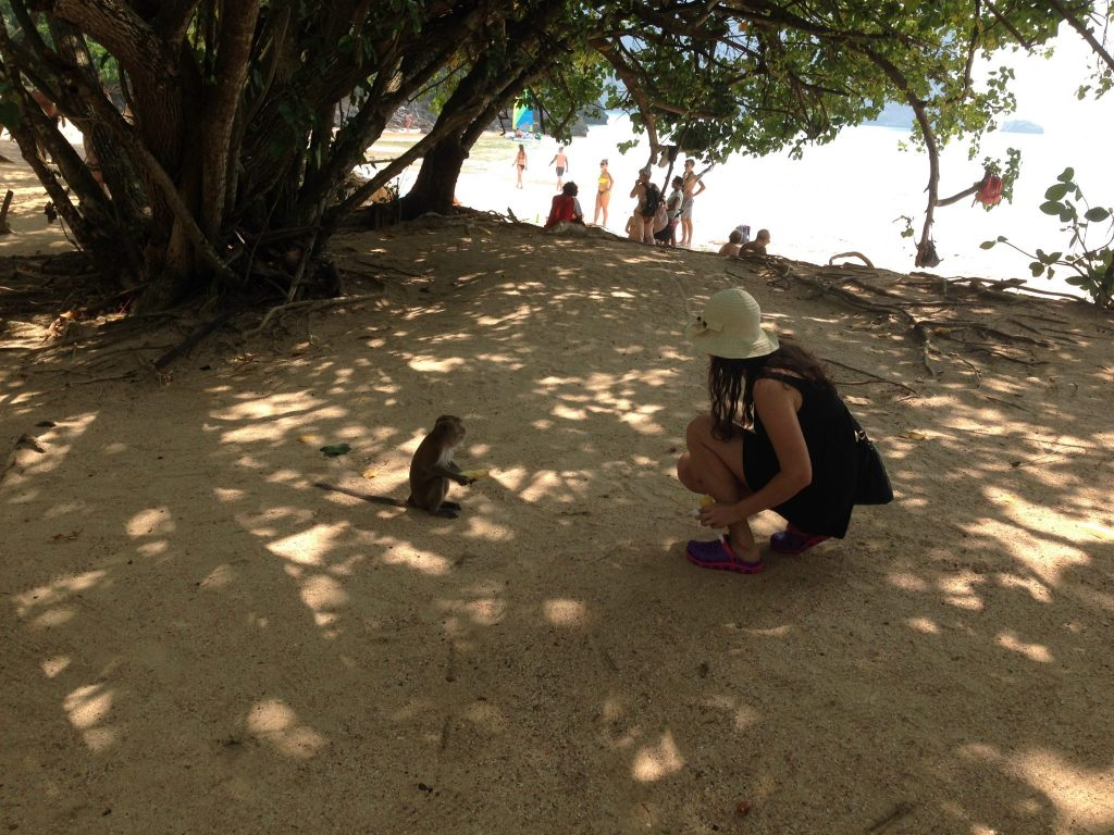 krmenie opice_Thajsko_travelhacker