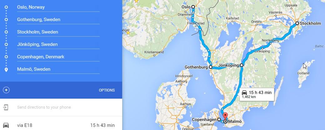 Trasa po Škandinavii_norsko_švedsko_dansko