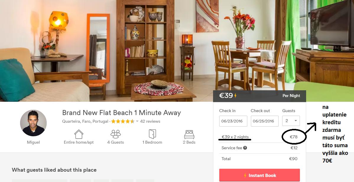 airbnb podmienka uplatnenia kreditu_zľava_tipy_travelhacker