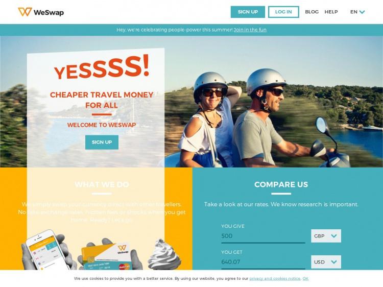 weswap_online výmena peňazí_tipy_travelhacker