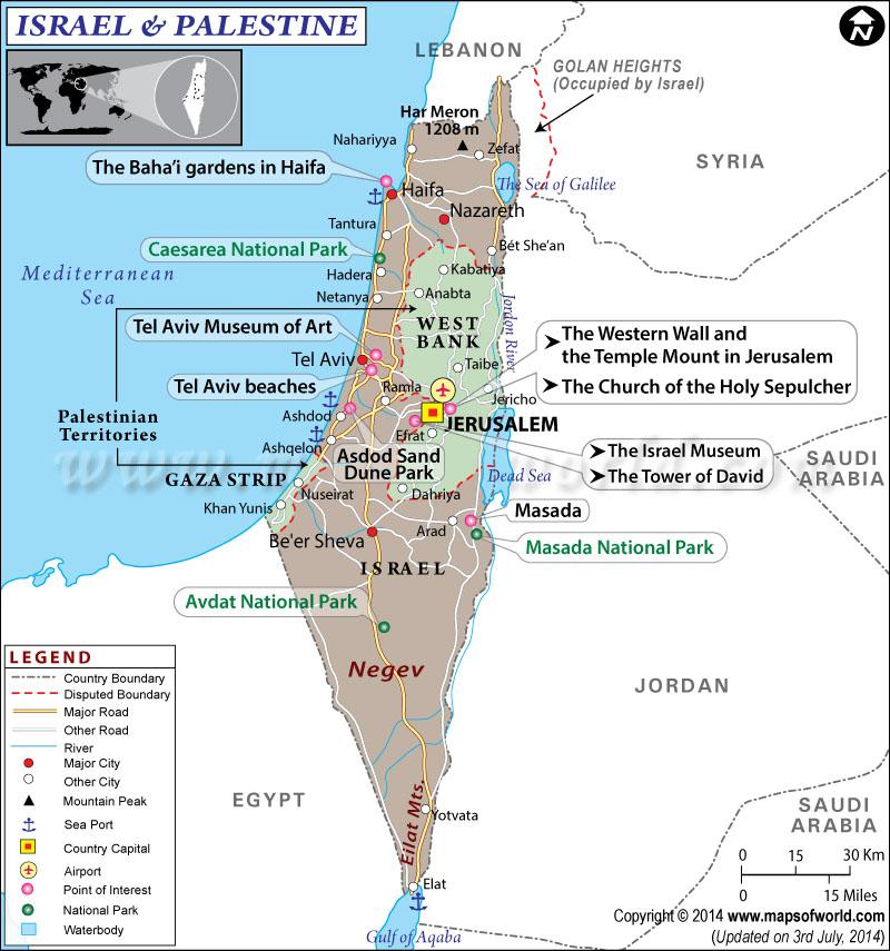 mapka, izrael, palestína_travelhacker