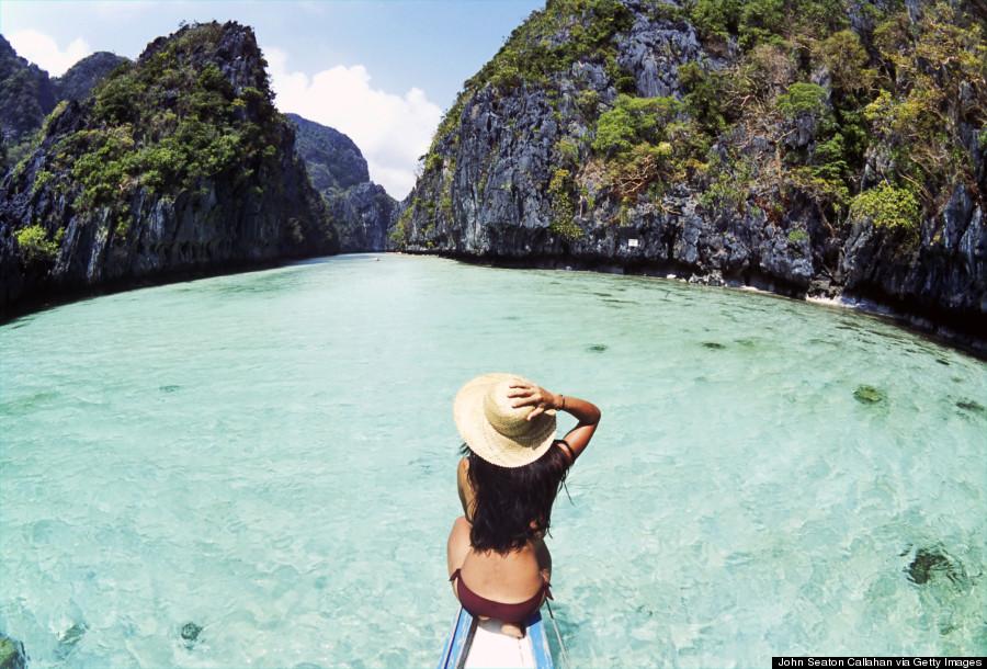 Philippines, Palawan Province, Miniloc Lagoon.
