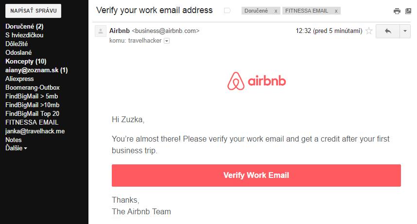 potvrdzovaci email airbnb