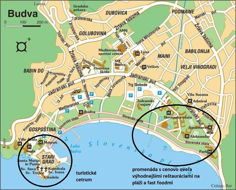 budva mapa Mapa Budva   Travelhacker.blog budva mapa