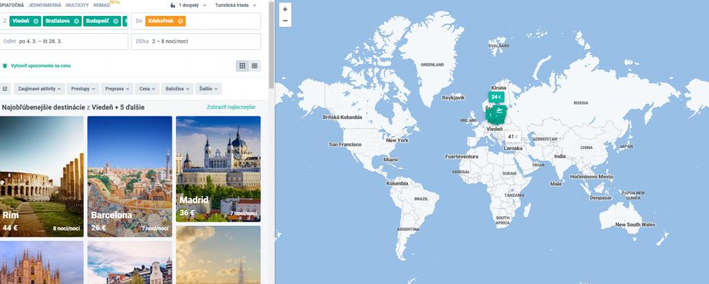 1a1ef31b77e44 Príklad vyhľadania leteniek do celého sveta cez kiwi.com