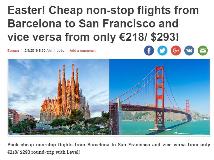 Príklad akciovej letenky Barcelona - San Francisco. fb66824f9c0