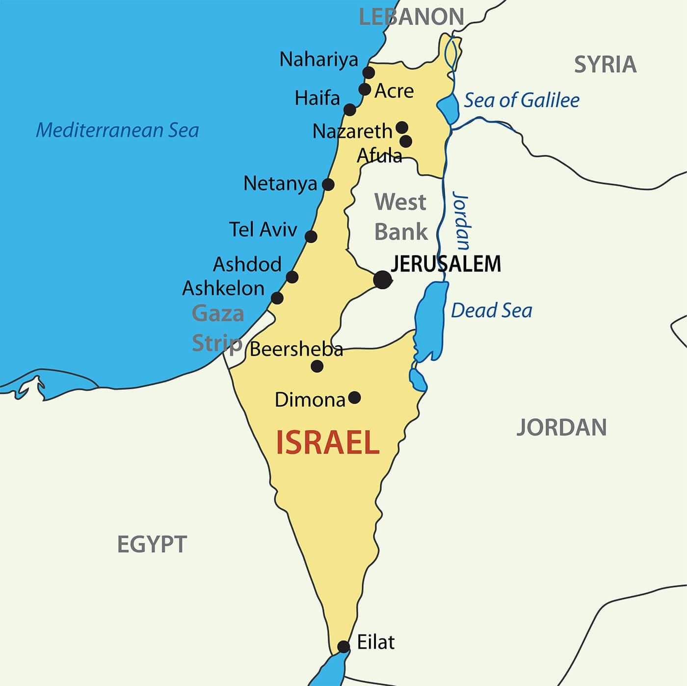 Izrael Mapa Travelhacker Blog