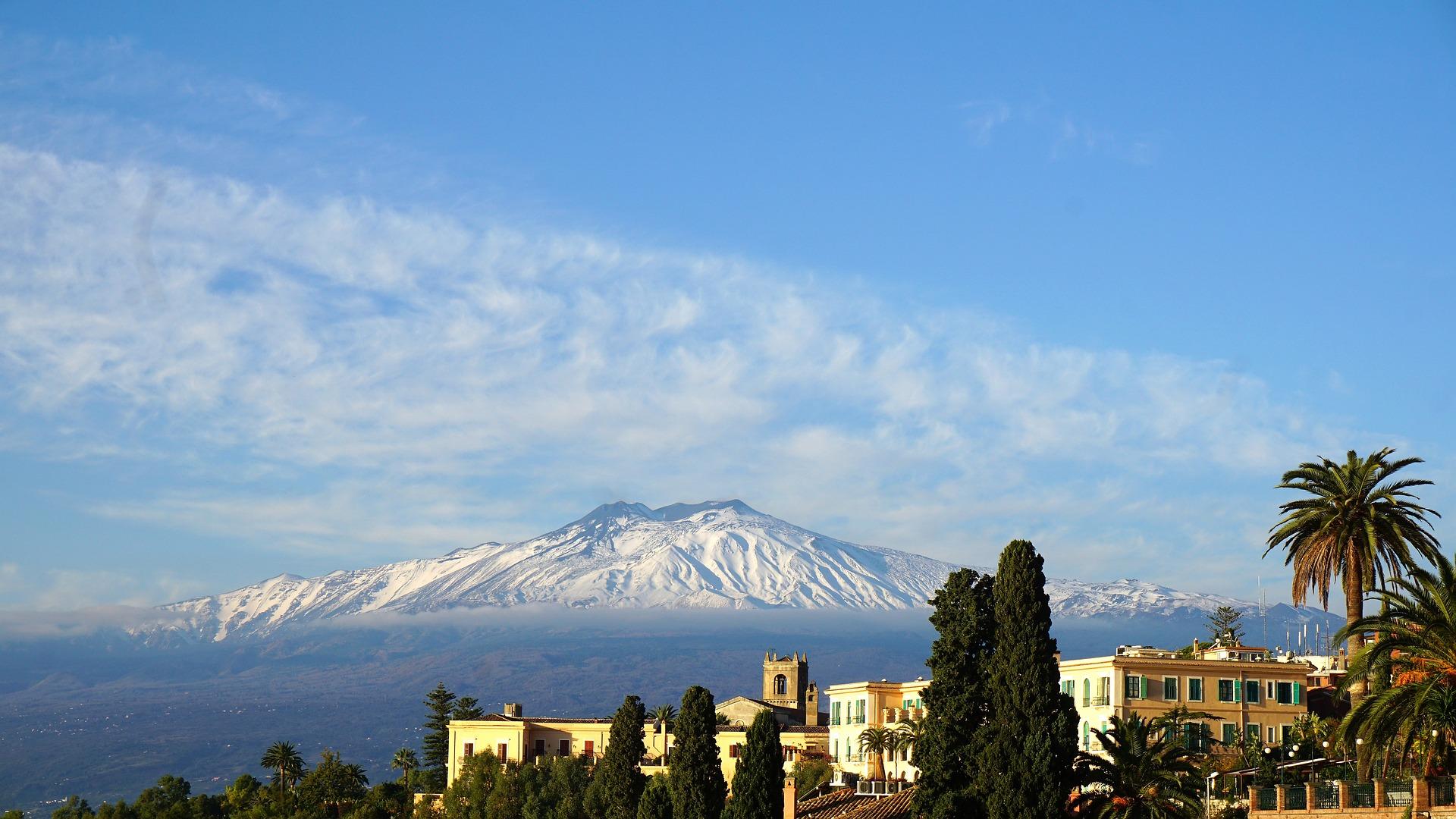 Etna, Sicilia, sopka Etna