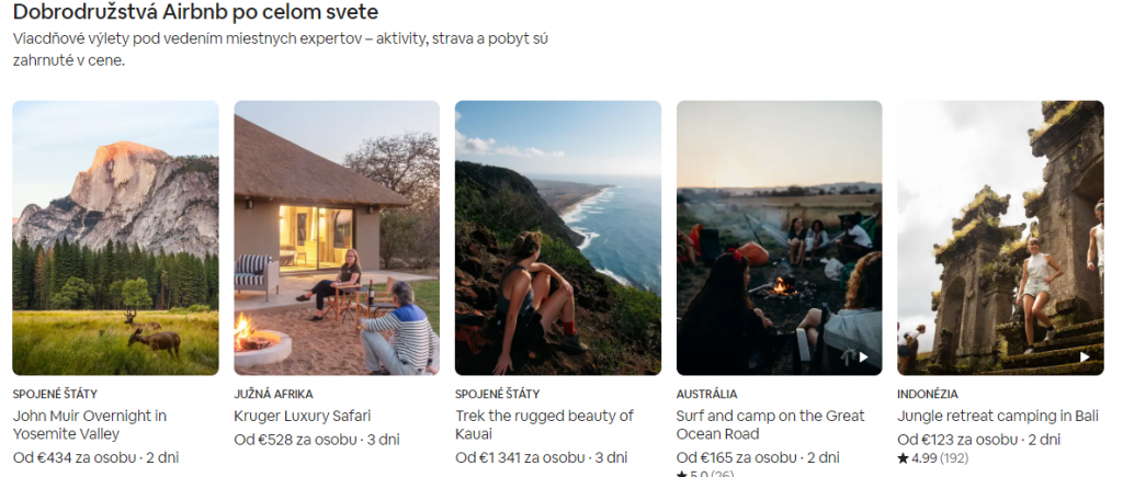airbnb zazitky svet