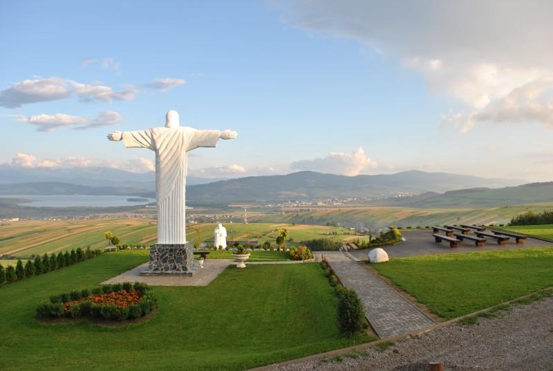 Socha Krista, obec Klin