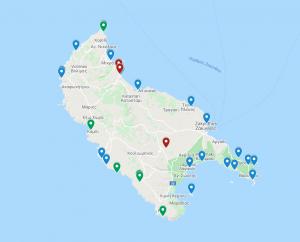 Zakynthos, mapa