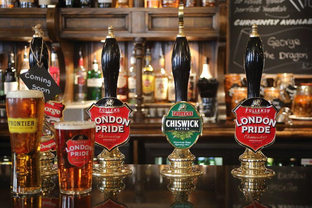 pivo, Anglicko