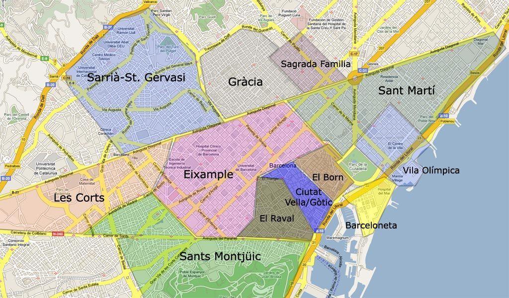 Barcelona, mapa