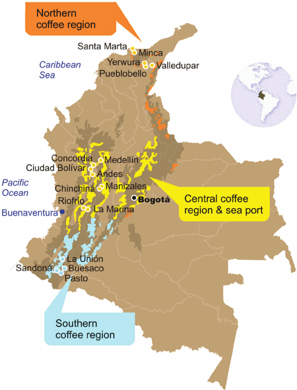 Kolumbia_mapa