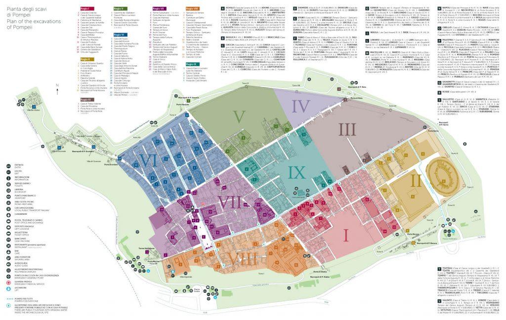 mapa Pompeje