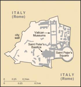 mapa Vatikán