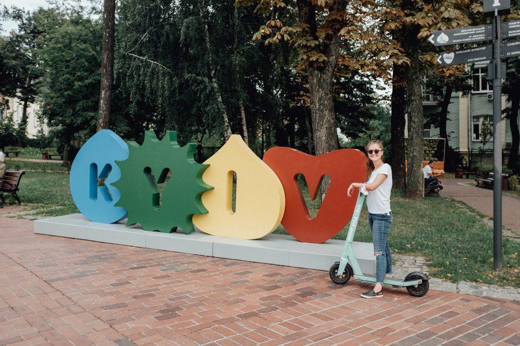 Kyjev na kolobežke