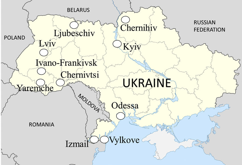 mapa Ukrajina
